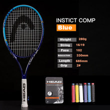 Original Head Tennis Racket Carbon Tennis Racquets Raqueta Tenis Padel Raqueta Tenis With Tenis Bag Grip Tennis Size 41/4-43/8(China)