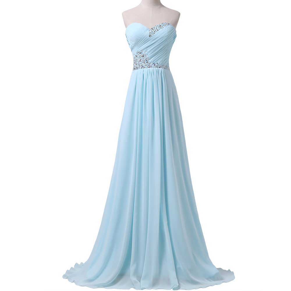 Grace karin gorgeous a line floor length chiffon cheap for Cheap wedding dresses under 50 dollars