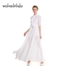 Buy Summer Dress Women 2017 White Chiffon Ladies Plus Size Clothing Tunic Beach Blue Tie Maxi Dress Sexy Bohemian Swing Work Dresses for $22.63 in AliExpress store