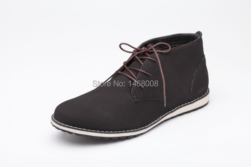 2015 Casual men winter shoes ankle suede boots flat heels mens genuine leather boots platform cowboy martin snow boot free ship(China (Mainland))