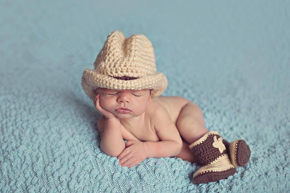 Handmade Crochet Baby Cowboy Hats and Boots set Costumes dallas cowboys hat newborn photography props outfits accessories(China (Mainland))