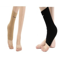 one pair nylon ankle support,ankle protector while Football basketball badminton,sports ankle support,S M L size,yellow or black(China (Mainland))