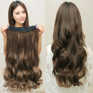 New Hot Women Ladies 19 Long Curly Wavy 5 Clips In On Hair Extensions Full Head Top<br><br>Aliexpress