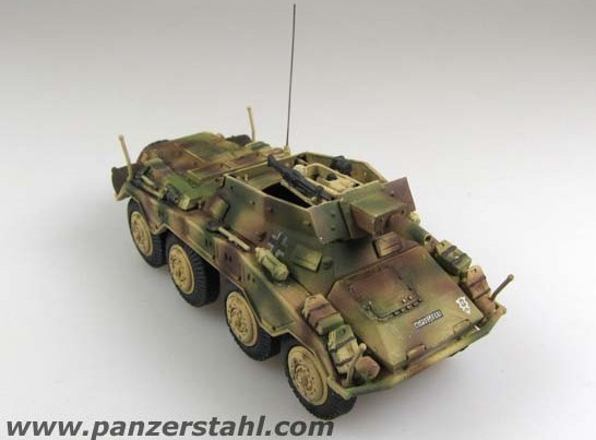 Panzerstahl 1:72 The germans Sd. Kfz. 234/3 leopard wheeled armored vehicles The 3rd armored division Hungary 1945(China (Mainland))