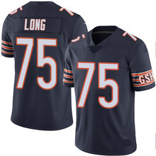 Men's #75 Kyle Long Elite Navy Blue Rush Football Jersey 100% stitched(China (Mainland))
