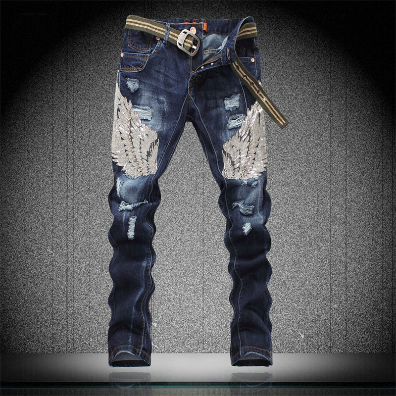 High Quality Destroyed Skinny Jeans Men-Buy Cheap Destroyed Skinny ...