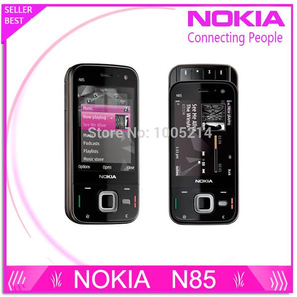 Refurbished original unlocked Nokia N85 3G network GSM WIFI GPS 5MP camera mobile phone free shipping(China (Mainland))