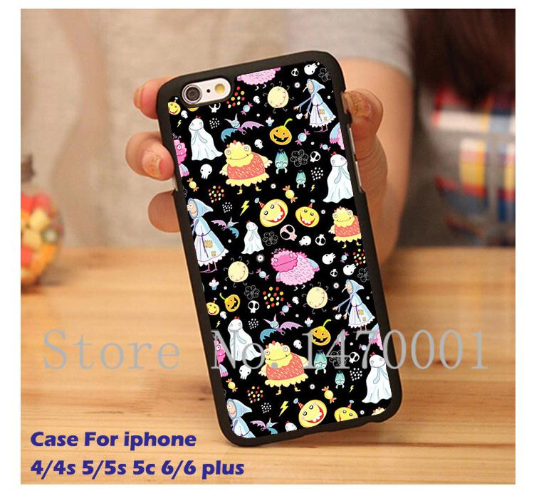 pattern of Halloween characters case for iPhone 4 4s 5 5s 5c 6 6 Plus With Gift(China (Mainland))