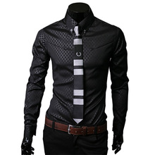 Camisas социальной Masculinas мужская фитнес рубашка тёмный шотландка рубашки для мужчины длинный рукав бизнес официальный рубашка большие размер 5XL