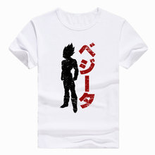 Азиатский размер с принтом японского аниме Dragon Ball Z Goku Super Saiyan vegeta футболка с короткими рукавами и круглым вырезом для мужчин и женщин HCP201(China)