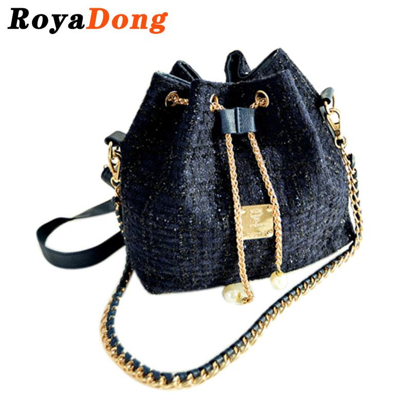 RoyaDong Women's Handbags Bucket Bag Ladies Chain Fashion Beautician Shoulder Bags For Women Messenger Crossbody Hand Bags 2016(China (Mainland))