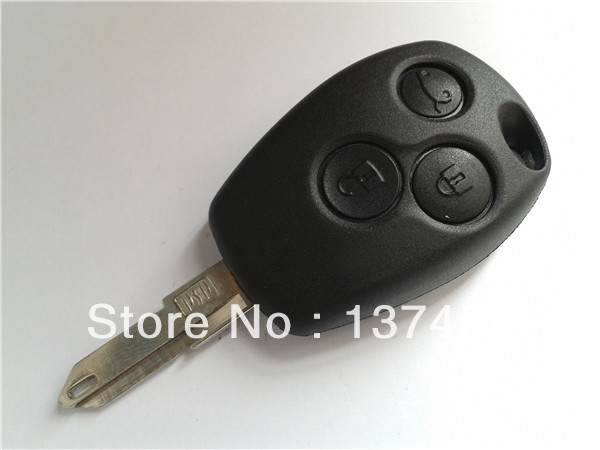 renault 3 button remote key blank no logo key programming car key cover(China (Mainland))