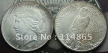 Buy 1934-S Peace Dollar UNC COIN COPY FREE SHIPPING for $1.28 in AliExpress store