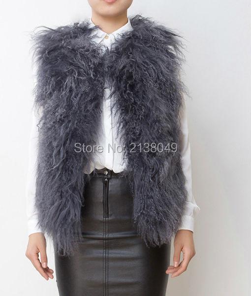 F042 толстые и теплый овец меховой жилет