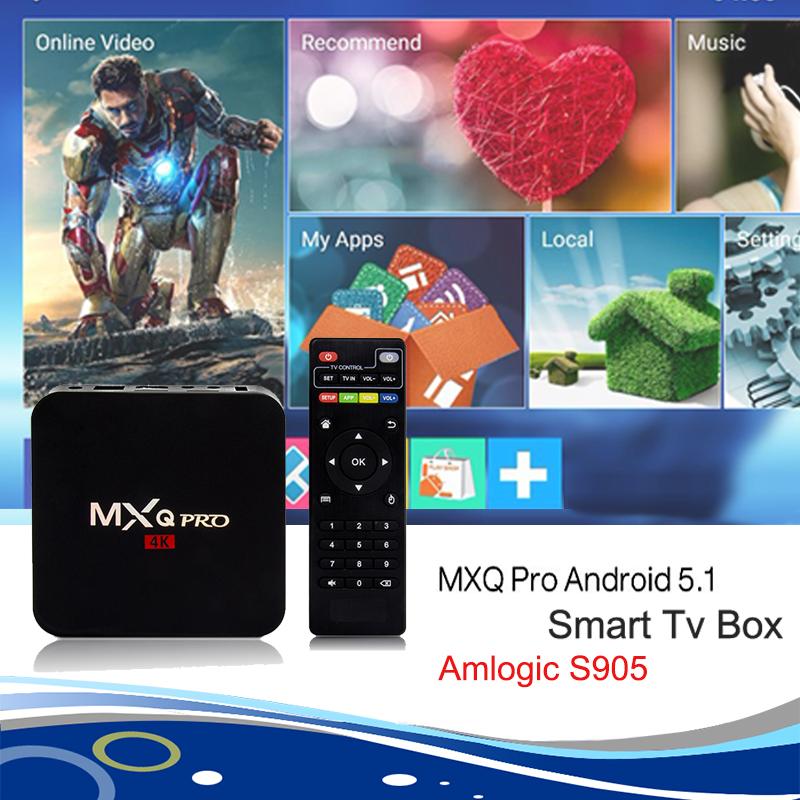 2016 HOT MXQ Pro Android 5.1 TV Box Amlogic S905 Quad-Core 1GB/8GB 4K HDMI WIFI H.265 1080P HD XBMC/ Kodi Smart Media Player