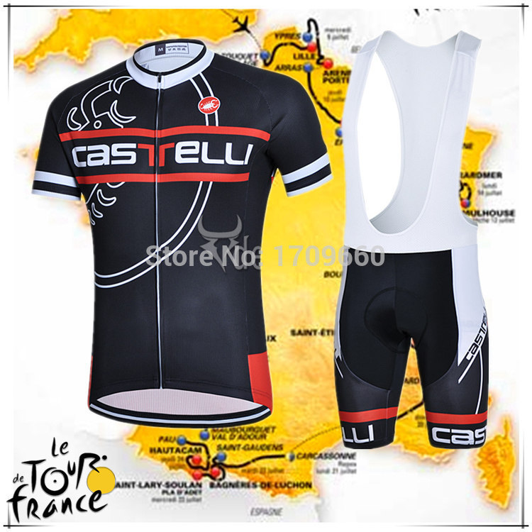 2015 new arrival cycling clothing summer bikes cycling jersey black