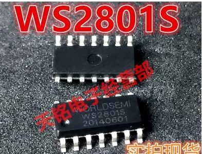 Free Shipping 100pcs/lot WS2801 IC;SMD Chip, led driver IC 100% new & original for full color RGB Strip pixel module(China (Mainland))