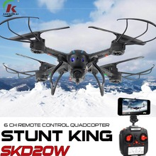 D20W Helicopter VR 3D Camera Drone Wifi FPV RTF 2.4G 4CH RC Black Quadcopter Plane with HD Camera UAV In Stock