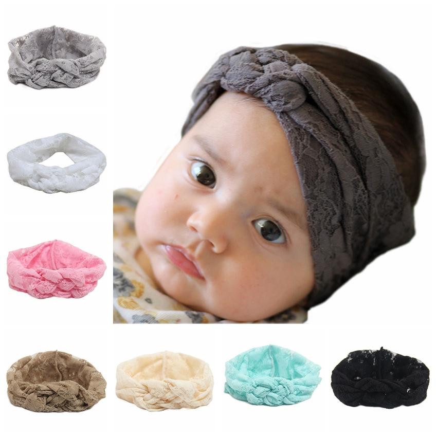 2015 Baby Top Knot lace Headbands Baby Headwrap Polka Braided Plum treasure Cross Knot Baby Turban Tie Knot Headwrap headbands(China (Mainland))