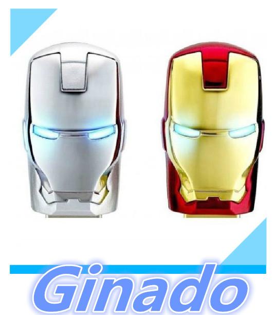 USB 8GB 16GB 32GB 64GB usb flash drive iron face pen drive Marvel Cartoon Iron man pendrive U disk Thumb usb stick memory stick(China (Mainland))