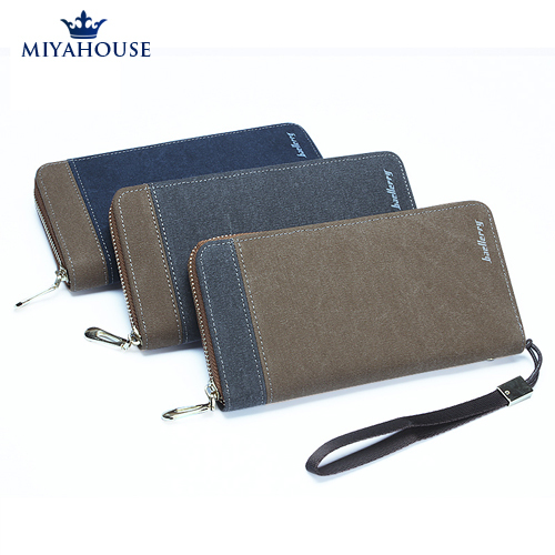 Long Design Men Wallets Fashion Male Clutch Wallets Zipper Purses Canvas Wallets Men Clutch Bag Card Holder Purses Men Clutch(China (Mainland))