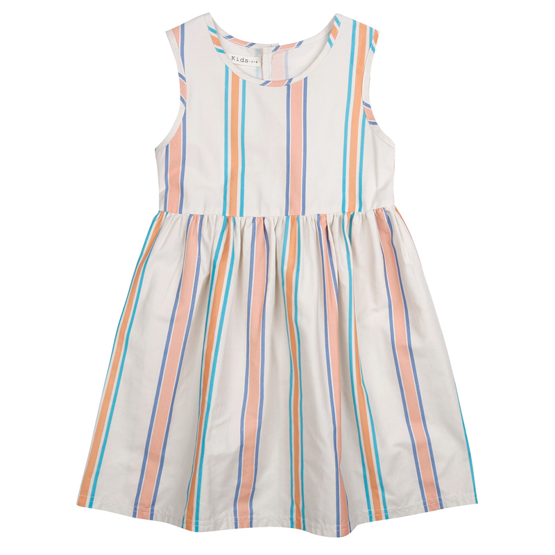 72 New hot bobo choses style dress Summer kids Girls print cartoon Colorful stripes dress vestido next fashion cotton clothes(China (Mainland))