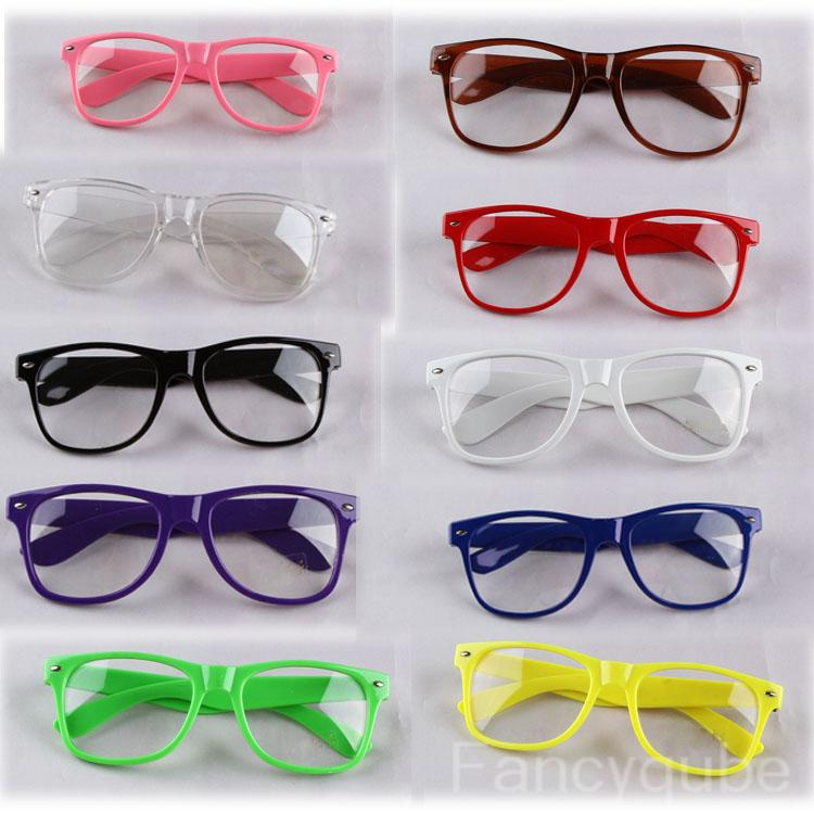 Fashion Retro Glass Frame Trendy Glasses With No Prescription Lenses Myopia Plain Mirror Armacao De Oculos