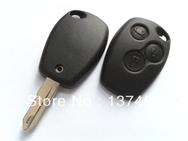 Key blank for renault 3 button car remote key blank no logo key programming no chip inside fob(China (Mainland))
