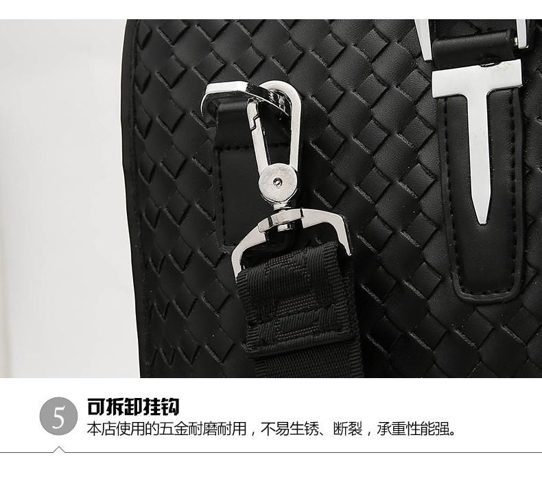 Men Business Synthetic Leather Weaving Briefcase Male Travel Messenger Shoulder Portfolio Laptop Bags Causal Lawer Handbag Bolsa (31)