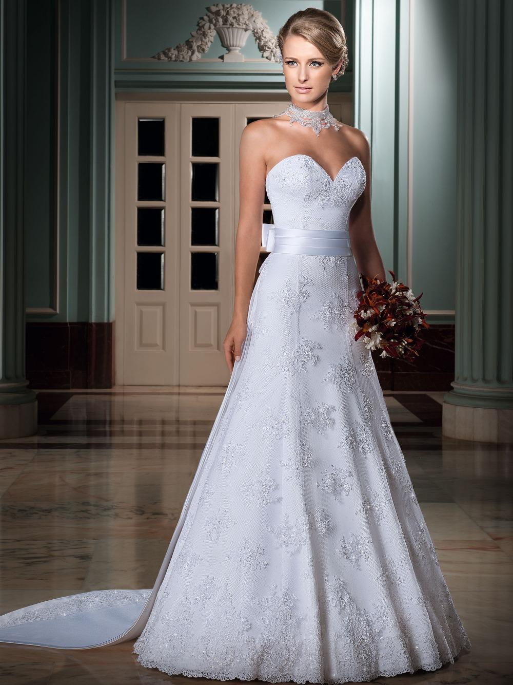 Vestido de noiva casamento 2015 new sweetheart a line for A line sweetheart lace wedding dress