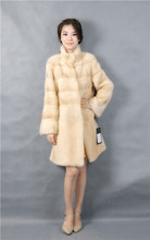 2015 winter woman fashion real mink fur LONG real mink coat 1030-LL-Y