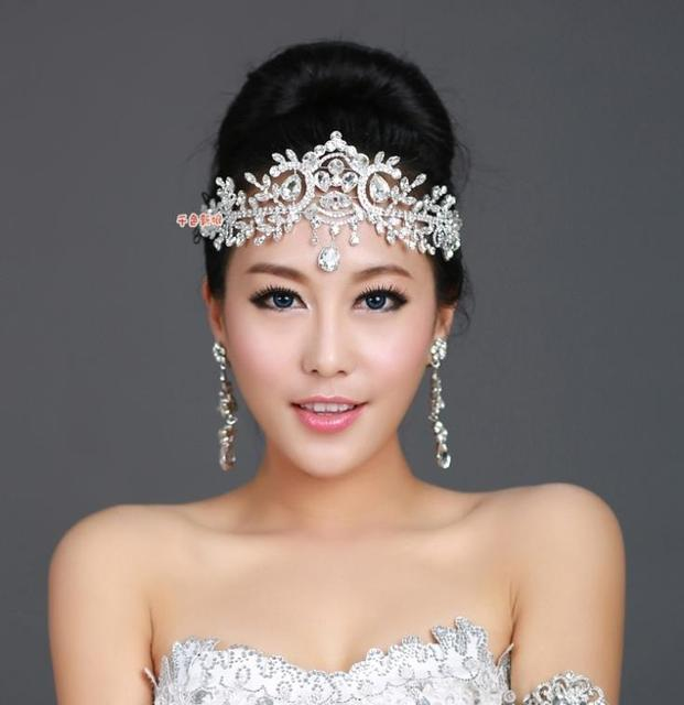 Fashion Bridal Crystal Tiara Crown Hair Accessories For Wedding Quinceanera Tiaras And Crowns Pageant Hair Jewelry WIGO0112