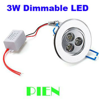 3W dimmable led downlight Spot lamp recessed lumiere aluminum for home indoor IP44 110V 220V CE&ROHS by DHL 20pcs/lot
