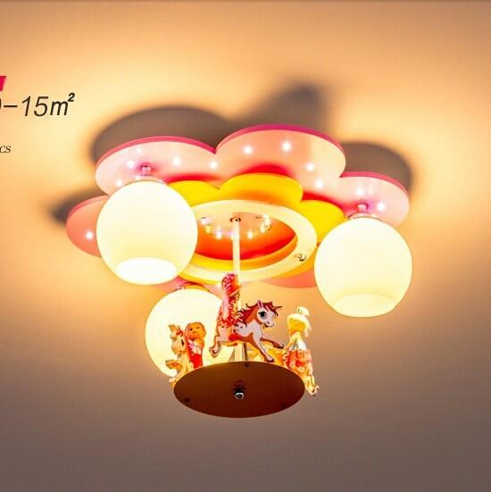 Carousel Kids Room Children's Room Ceiling Pendant Lamp LED lights nursery bedroom girls room light lamp(China (Mainland))