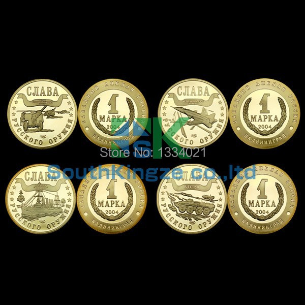 Free shipping Coin 10 Design Sets Replica 1 Rouble Russia Coins Collection Gold Color Coin set/7pcs/lot(China (Mainland))