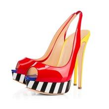Lively Beautiful Women Pumps Stylish Slingbacks Thin Heels Pumps Multicolors Customizable Shoes Woman Plus EU Size 34-46(China (Mainland))
