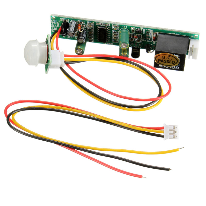 Hot sale 1pcs DC 5A 12V Useful IR Pyroelectric Infrared PIR Motion Sensor Detector Module Safely Security New Electric Unit(China (Mainland))