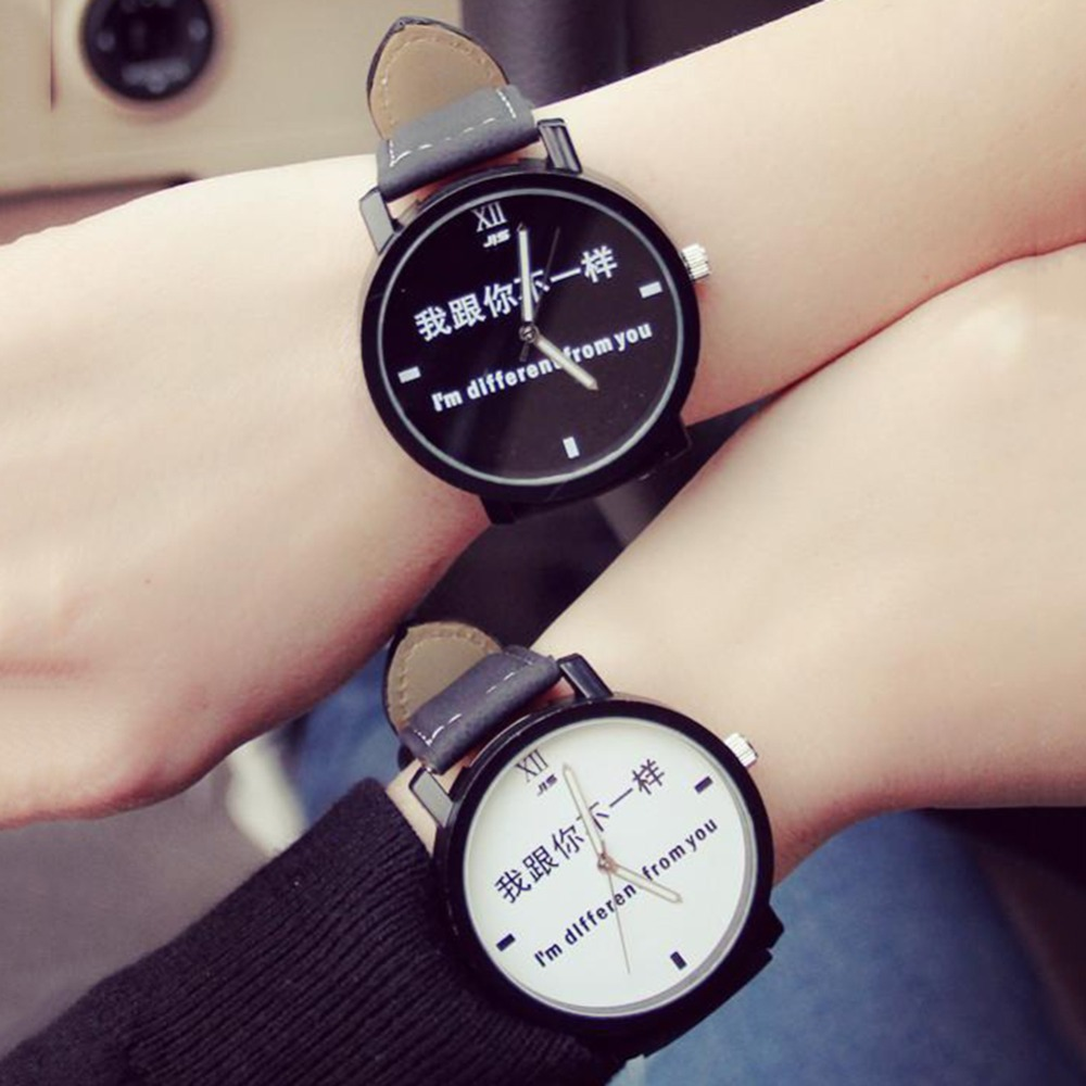 Lovers Watches New 2015 Quartz Watch Men Women PU Leather Band Simple Casual Relogio Top Sale
