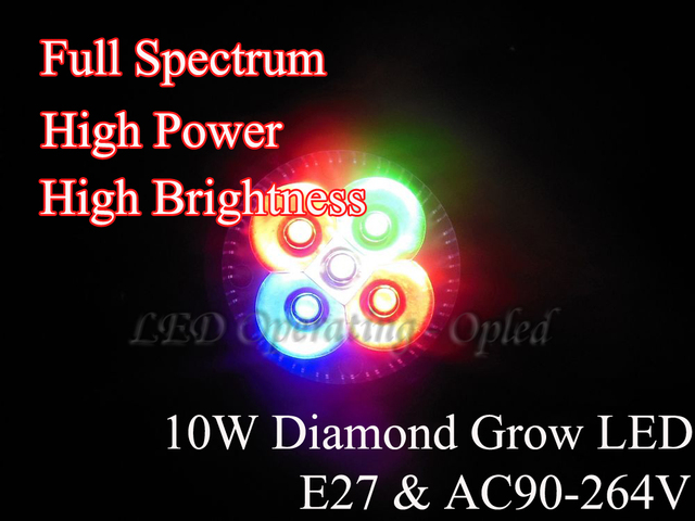 full spectrum led grow light - Married Diamond lens Pay Smallest 10w E27 led grow lamp for flowering,hydroponics system,grow box
