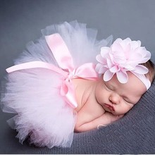 12 colors Beautiful Newborn baby tutu skirt Fashion Toddler  kids photograph prop set With flower hair accessories  HB356B(China (Mainland))