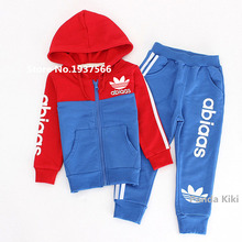 2016 Brand Children Boys Girls Clothing Sports Suits Set 3-10 Years Kids Football Clothes Sets Spring Autumn Style Tracksuits