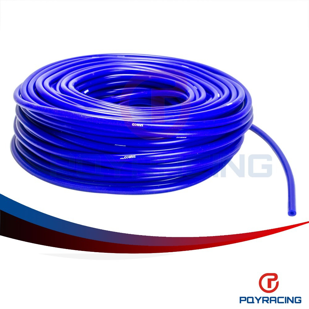 PQY STORE-Universal SAM Style 50M Super Vacuum Silicone Hose - ID: 4mm OD:9MM - Blue ,100% Silicone material PQY-VSL4MM(China (Mainland))