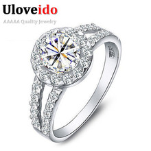 50% off 2014 New Arrival Ring Silver 925 Vogue Crystal White Massive Simulated Stone for Ladies Bridal Wedding ceremony,Anel Prata Sale J510
