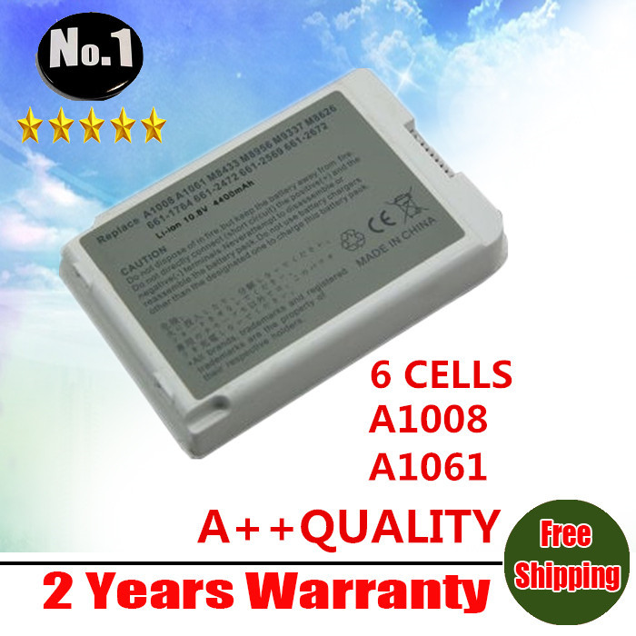 """wholesale New laptop battery for Apple iBook G3 G4 12"""" A1061 A1008 M8403 M8433G/A M8626GA M8956G/A M9337G/A free shipping(China (Mainland))"""