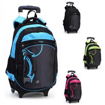 Hot Cartoon Waterproof Boys Trolley School Bag Classic Travel Luggage Suitcase On Wheels Kids Rolling Backpack girl Book Bags