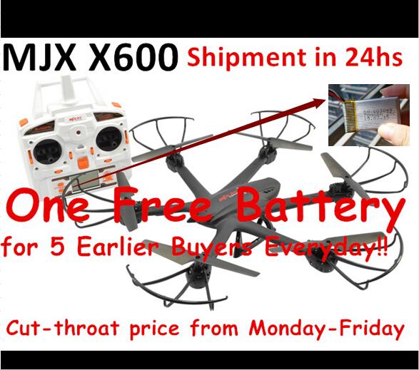 Free shipping MJX X600 2.4G wifi FPV hexacopter drone rc drone with C4005 camera vs mjx x101 mjx x800 mjx x900(China (Mainland))