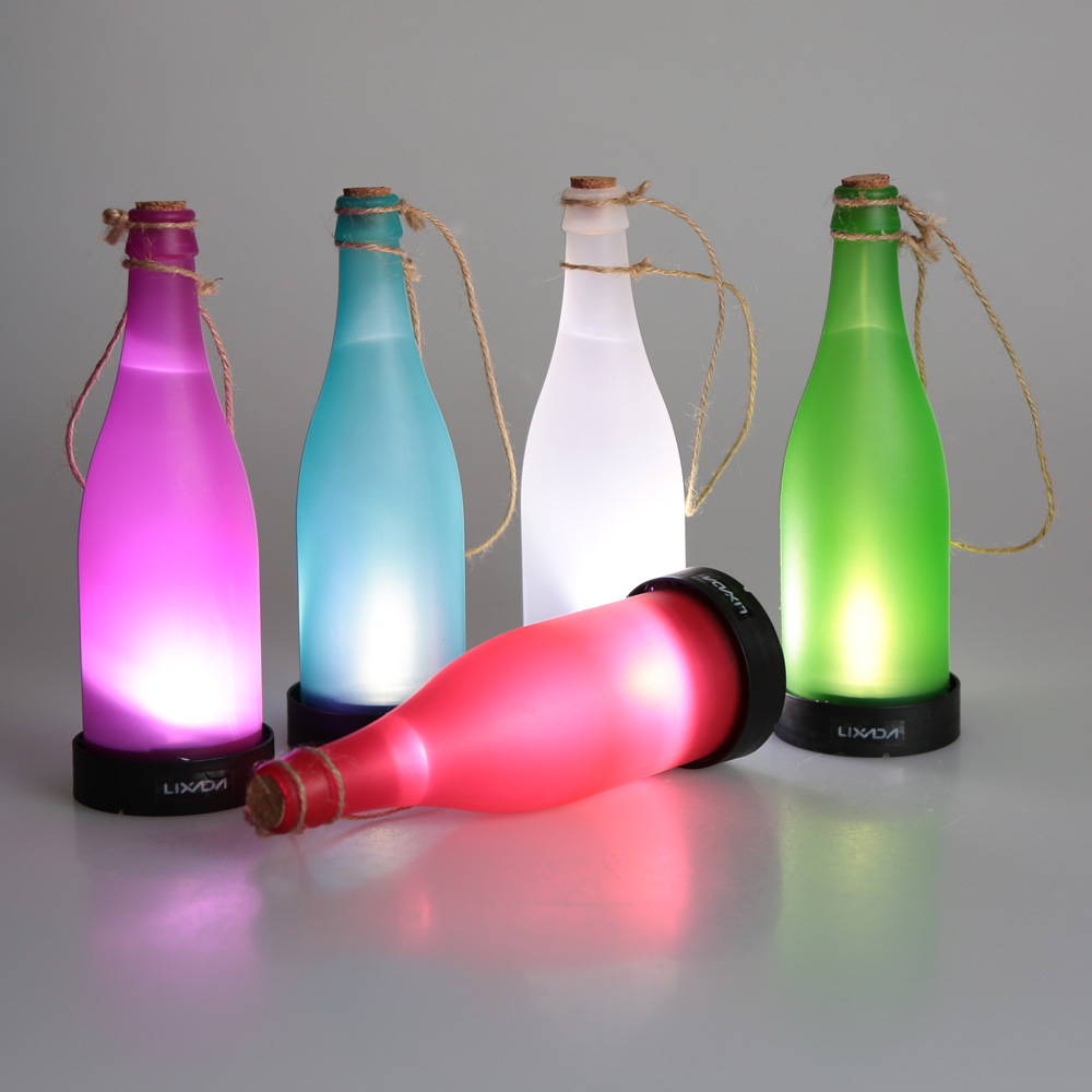 Outdoor motion sensor light adjustable for time and distance outdoor - Solar Powered Wine Bottle Shaped Outdoor Lights Colorful