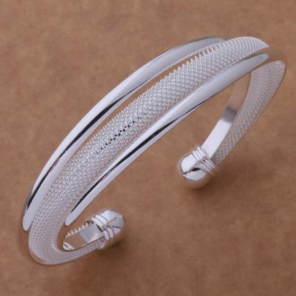 Горячая распродажа мода ювелирных изделий бесплатная доставка посеребренные браслеты ...
