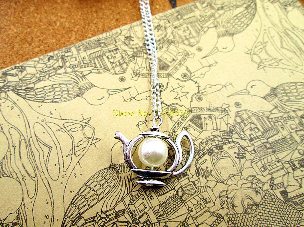 10 x Tea Time Teapot Tea Pot Charms Pendants Silver tone Alice in Wonderland