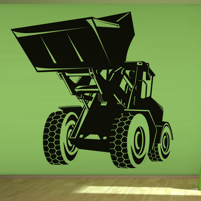 Hot Sale Modern Home Decor Accessories Living Room Cartoon Building Digger Wall Sticker For Boys Gift(China (Mainland))